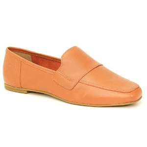 Sapato feminino em Couro Natural Wuell Casual Shoes - BZ 060 - laranja