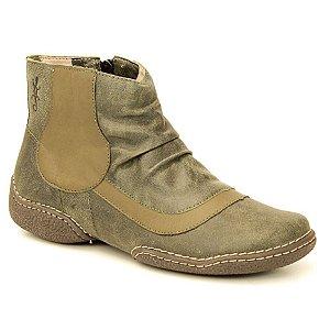 Bota Feminina em Couro Natural Wuell Casual Shoes - JMC 2400 - verde