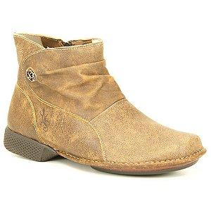 Bota Feminina em Couro Natural Wuell Casual Shoes - JXC 0300 - laranja