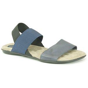 Sandália Rasteira Feminina em couro Wuell Casual Shoes - VN 211232 - azul