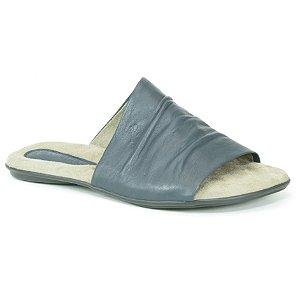 Sandália Rasteira Feminina em couro Wuell Casual Shoes - VN 334232 - azul marinho