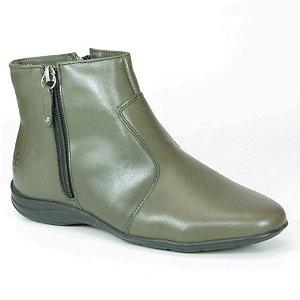Bota baixa Feminina em Couro Wuell Casual Shoes - PV 2944 - verde oliva