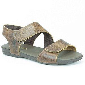 Sandália Rasteira Feminina em Couro Wuell Casual Shoes - VC 96310 - marrom