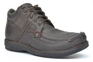 Bota cano alto masculina Wuell Casual Shoes - Walk 14 - café