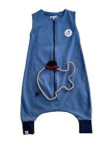 Saco de Dormir Infantil Suedine Azul Tamanho 1