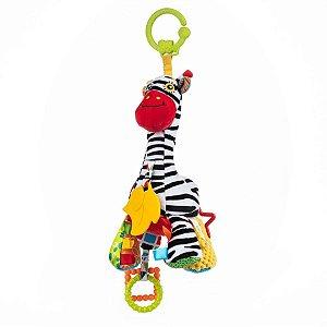 Brinquedo para Carrinho Musical Zebra Pull String Musical Bell