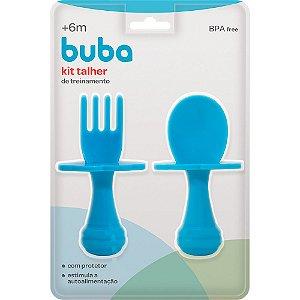 Kit talher com escudo azul Buba