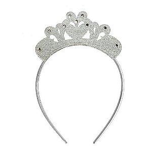 Arco Coroa Prata Purpurinado