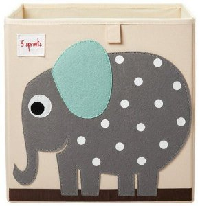 Cesto Organizador Quadrado 3 Sprouts Elefante