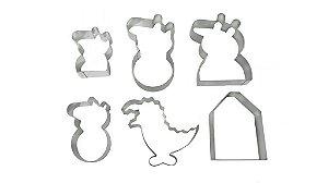 Cortadores de alimentos Família Porquinha (Peppa Inspired)