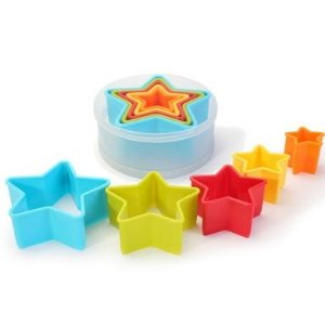Kit com 5 Cortadores no formato estrela