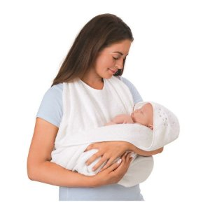 Toalha Mamãe e Bebê Branca