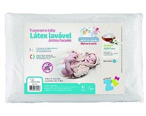 Travesseiro Latex Sintético Lavável Antissufocante Baby