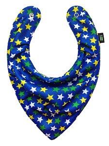 Babador Bandana Estrelado Azul