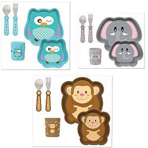 Kit Alimentação com Lancheira Plástica Zoo