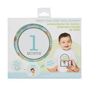 12 adesivos para registrar o primeiro ano do bebê