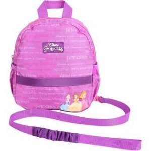 Mochila Infantil Side By Side com alça de segurança (Princesas ou Toy Story)