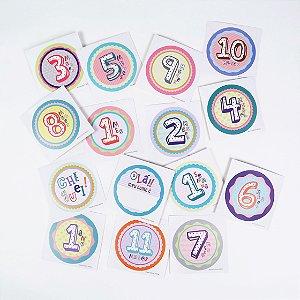 15 adesivos para registrar os momentos do bebê