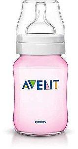 Mamadeira Avent Feeding Bottle Rosa 260 ml