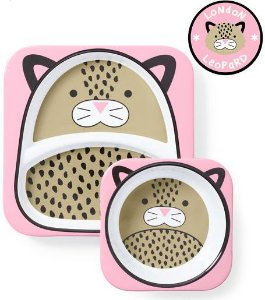 Set de pratos Skip Hop Zoo Leopardo