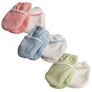 Luvas de algodão para bebês (Kit com 2 pares)