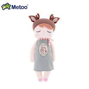 Boneca Metoo Angela Doceira Retro Deer Marrom 33cm