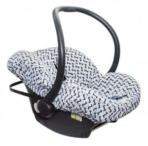Capa para Bebê Conforto Geometrico Azul Candy Tree