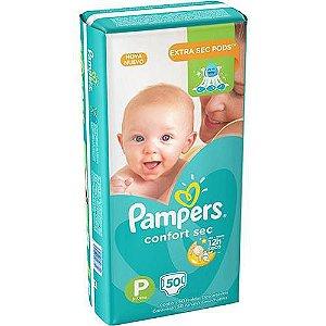 Fralda Pampers P Confortsec (50 unidades)