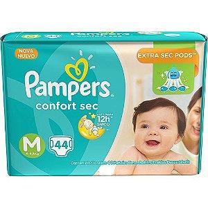 Fralda Pampers M Confortsec (44 unidades)