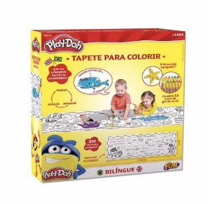 Tapete para colorir Bilíngue Play Doh