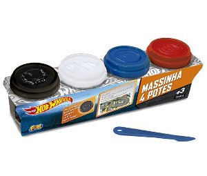 Massinha Hot Wheels (4 potes)