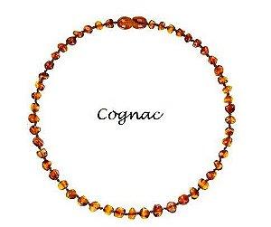 Colar de Ambar Baroque Cognac - 36cm