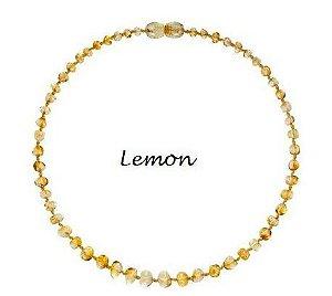 Colar de Ambar Baroque Lemon - 36cm