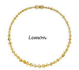Colar de Ambar Baroque Lemon - 32cm