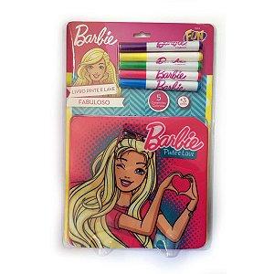 Livro Pinte e Lave Barbie Fabuloso