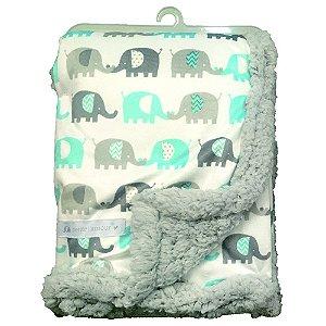 Manta Elefantinhos Azul