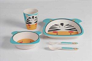 Kit de Alimentação Ecológico com 5 peças Zebra