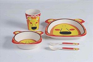 Kit de Alimentação Ecológico com 5 peças Leão