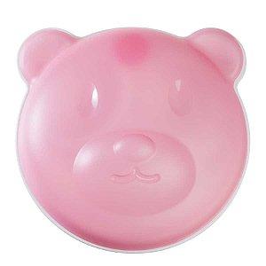 Prato térmico com ventosa Urso Rosa