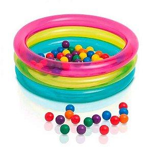 Piscina de Bolinhas Multicolor