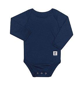 Body Infantil com proteção UV Marinho