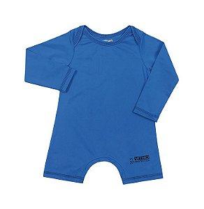 Macacão Infantil com proteção UV Azul Aquarela