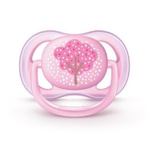 Chupeta Philips Avent Ultra Air 0 a 6 Meses Decorada Rosa