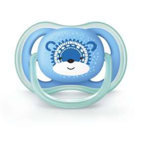 Chupeta Philips Avent Ultra Air 6 a 18 Meses Decorada Urso Azul