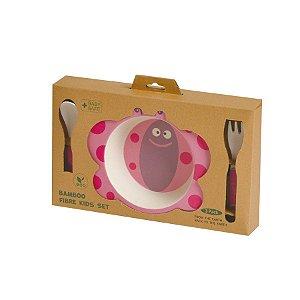 Kit de Alimentação Ecológico com 3 peças Borboleta