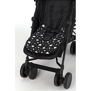 Mini Almofada para Carrinho Comfi-Cush Clingo Estrelas Preto e Branco