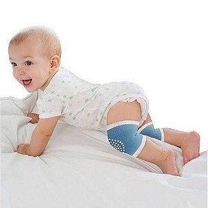 Joelheira para bebês azul