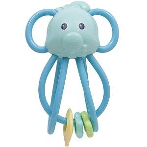 Elefantinho Chocalho Divertido Azul