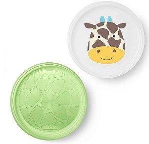 Kit de pratos empilháveis Skip Hop Zoo Girafa