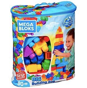 Mega Bloks Sacola com 80 Peças - Mattel